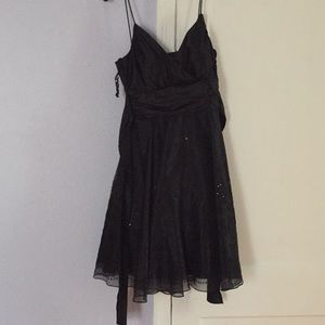 Onyx dress silk with beading detail